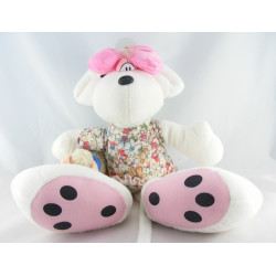 Doudou souris pull jaune noeud rose Diddlina DIDDL