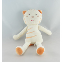 Doudou chat orange nez rouge SUCRE D'ORGE