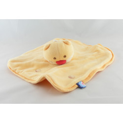 Doudou chat orange nez rouge SUCRE D'ORGE