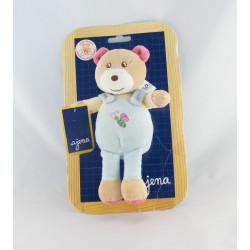 Doudou ours bleu AJENA
