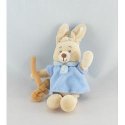 Mini Doudou  lapin bleu avec carotte JOLLYBABY