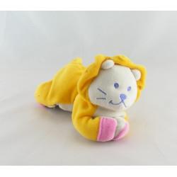 Doudou hochet lion rouge couché BEBE CONFORT