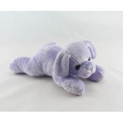 Doudou chiot chien violet mauve couché MAX ET SAX