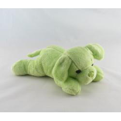 Doudou chiot chien vert couché MAX ET SAX