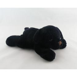 Doudou chiot chien noir couché MAX ET SAX