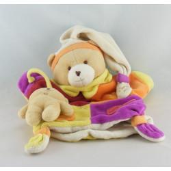 Doudou et compagnie plat ours Marcus avec bébé poches