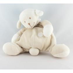 Doudou mouton agneau blanc beige coeur NATTOU