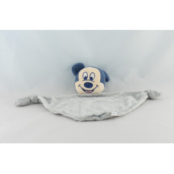 Doudou plat Mickey bleu jaune DISNEY