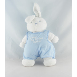 Doudou lapin blanc robe rose Tendres Calins KLORANE