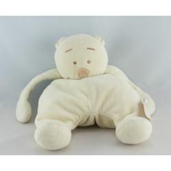 Doudou ours blanc vert Tonton NOUKIE'S 16 cm