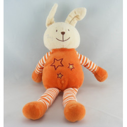 Doudou plat lapin orange étoile KIABI BEBE