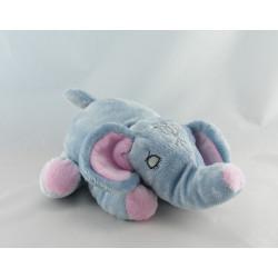 Doudou éléphant bleu MARTIAL