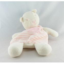 Doudou range pyjama ours blanc rayé jaune SIPLEC