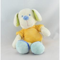 Doudou Chien salopette bleu MOTS D'ENFANTS