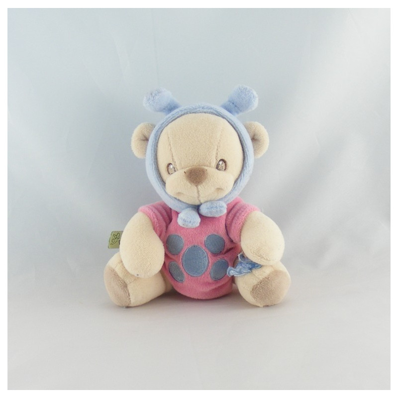 Doudou nature bearries ours déguisé papillon FISHER PRICE