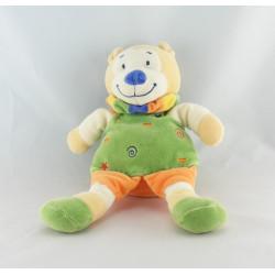 Doudou Lion Orange vert jaune bleu NICOTOY