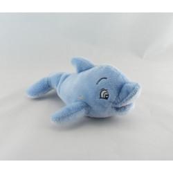 Doudou plat carré bleu jaune dauphin STERIMAR