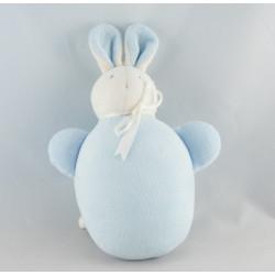 Doudou hochet Lapin bleu Sucre d'Orge