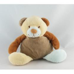 Doudou ours beige écru ventre blanc KIABI