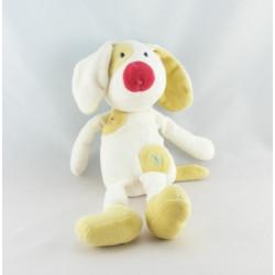 Doudou plat chien blanc gris orange vert cocard SUCRE D'ORGE