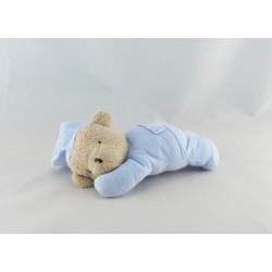 Doudou ours pyjama bleu avec coussin TARTINE ET CHOCOLAT