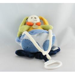Doudou et compagnie musical lapin vert jaune nuage bleu P'tit doux