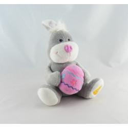 Doudou lapin rose oeuf de pâque vert GIPSY