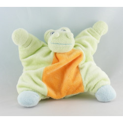Doudou semi plat Crocodile Vert orange et bleu JollyBaby