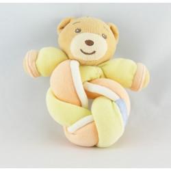 Mini Doudou ours rose jaune noeud candies lollies KALOO