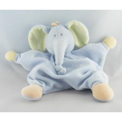 Doudou éléphant bleu vert orange JOLLYBABY