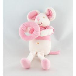Doudou souris rose SUCRE D'ORGE