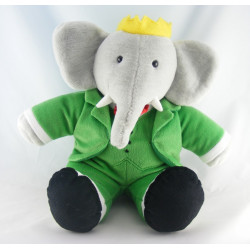 Peluche Babar l'éléphant intéractif LANSAY