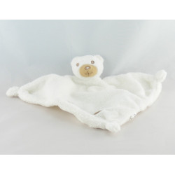 Doudou plat triangle ours blanc CARREFOUR
