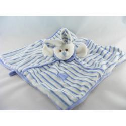 Doudou musical lapin blanc bleu BUKOWSKI