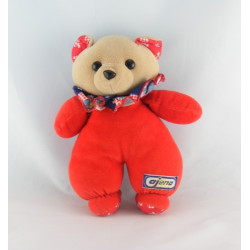 Doudou peluche ours rouge AJENA