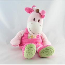 Doudou girafe robe rose soleil Ma ptite tribu