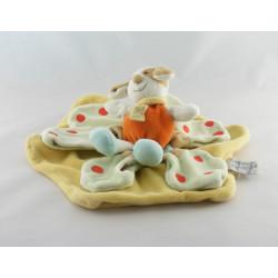 Doudou plat chien Hector orange blanc bleu Doudou et compagnie