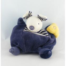 Doudou plat souris bleu marine Fromage PRISCILLA LARSEN