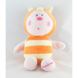 Doudou papillon abeille orange jaune LUMINOU