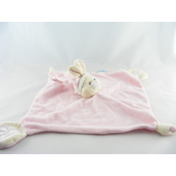 Doudou lapin rose blanc GIPSY