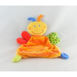 Doudou plat papillon abeille jaune BABY CLUB
