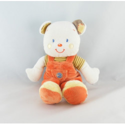 Doudou ours salopette orange Kitchoun KIABI