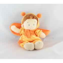 Doudou garçon abeille jaune orange NICOTOY