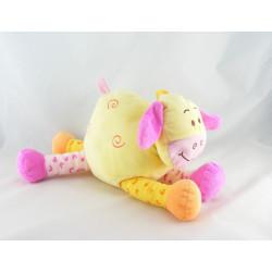 Doudou vache jaune violet étoiles HASBRO