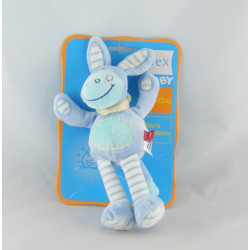 Doudou ane cheval lapin bleu TEX 18 cm