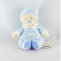 Doudou ours bleu oiseau étoile NICOTOY NEUF