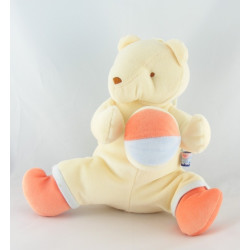 Doudou musical ours jaune orange balle SUCRE D'ORGE