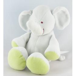 Doudou éléphant bleu vert foulard orange KIABI NICOTOY