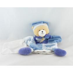 Doudou et compagnie plat marionnette ours fun bleu