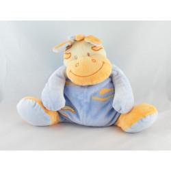 Doudou musical vache bleu orange DOUKIDOU